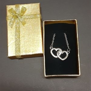 """NEW Joined """"Double Hearts"""" Necklace"""